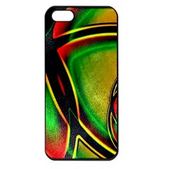 Multicolored Modern Abstract Design Apple Iphone 5 Seamless Case (black)