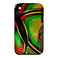 Multicolored Modern Abstract Design Apple Iphone 3g/3gs Hardshell Case (pc+silicone)