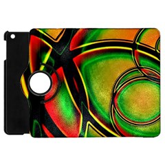 Multicolored Modern Abstract Design Apple iPad Mini Flip 360 Case