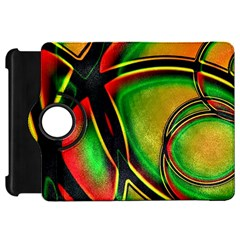 Multicolored Modern Abstract Design Kindle Fire HD 7  (1st Gen) Flip 360 Case