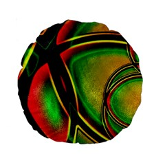 Multicolored Modern Abstract Design 15  Premium Round Cushion