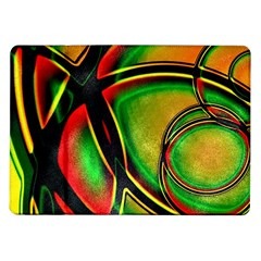 Multicolored Modern Abstract Design Samsung Galaxy Tab 10.1  P7500 Flip Case
