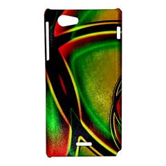 Multicolored Modern Abstract Design Sony Xperia J Hardshell Case