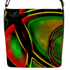 Multicolored Modern Abstract Design Flap Closure Messenger Bag (Small)