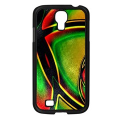 Multicolored Modern Abstract Design Samsung Galaxy S4 I9500/ I9505 Case (Black)