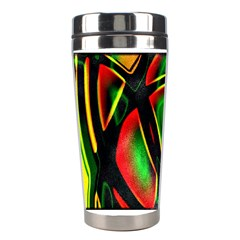 Multicolored Modern Abstract Design Stainless Steel Travel Tumbler