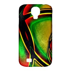 Multicolored Modern Abstract Design Samsung Galaxy S4 Classic Hardshell Case (pc+silicone)