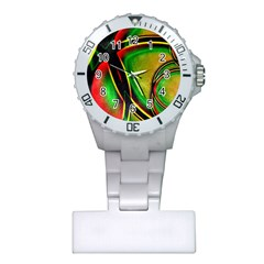 Multicolored Modern Abstract Design Nurses Watch