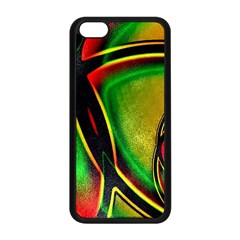Multicolored Modern Abstract Design Apple Iphone 5c Seamless Case (black)
