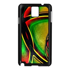 Multicolored Modern Abstract Design Samsung Galaxy Note 3 N9005 Case (Black)