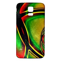 Multicolored Modern Abstract Design Samsung Galaxy S5 Back Case (white)