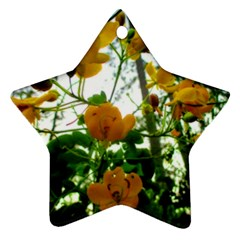 Yellow Flowers Star Ornament