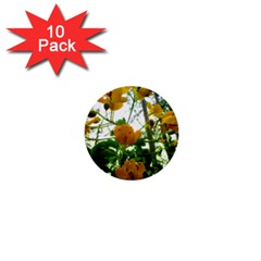 Yellow Flowers 1  Mini Button (10 pack)