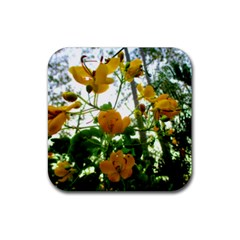 Yellow Flowers Drink Coasters 4 Pack (square)