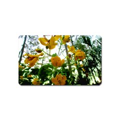 Yellow Flowers Magnet (name Card)