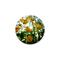 Yellow Flowers Golf Ball Marker 10 Pack