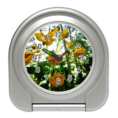 Yellow Flowers Desk Alarm Clock