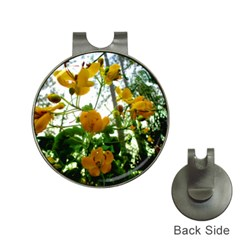 Yellow Flowers Hat Clip with Golf Ball Marker