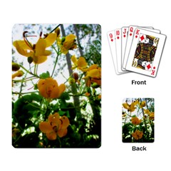 Yellow Flowers Playing Cards Single Design