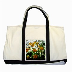 Yellow Flowers Two Toned Tote Bag