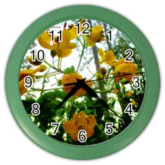 Yellow Flowers Wall Clock (Color)