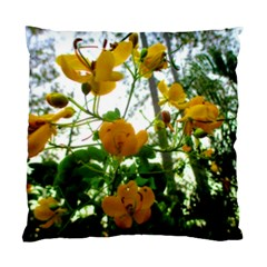 Yellow Flowers Cushion Case (Two Sided)