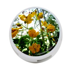Yellow Flowers 4 Port Usb Hub (two Sides)