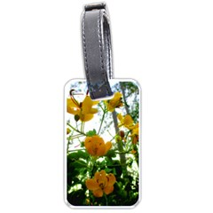 Yellow Flowers Luggage Tag (two Sides)