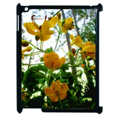 Yellow Flowers Apple iPad 2 Case (Black)