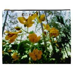 Yellow Flowers Cosmetic Bag (XXXL)
