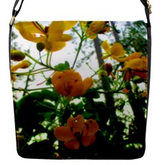 Yellow Flowers Flap Closure Messenger Bag (Small)