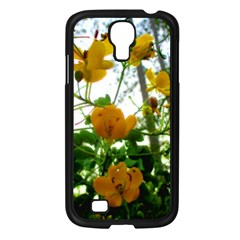 Yellow Flowers Samsung Galaxy S4 I9500/ I9505 Case (black)