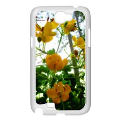 Yellow Flowers Samsung Galaxy Note 2 Case (White)