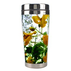 Yellow Flowers Stainless Steel Travel Tumbler
