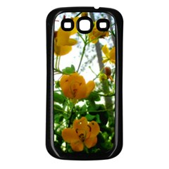Yellow Flowers Samsung Galaxy S3 Back Case (Black)