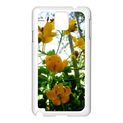 Yellow Flowers Samsung Galaxy Note 3 N9005 Case (white)
