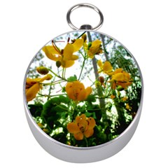 Yellow Flowers Silver Compass