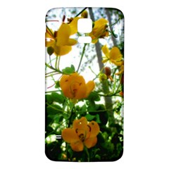 Yellow Flowers Samsung Galaxy S5 Back Case (White)
