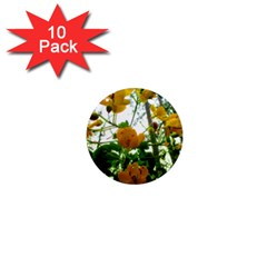 Yellow Flowers 1  Mini Button Magnet (10 pack)
