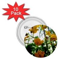 Yellow Flowers 1 75  Button (10 Pack)