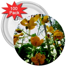 Yellow Flowers 3  Button (100 pack)