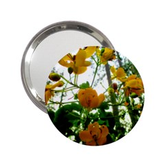 Yellow Flowers Handbag Mirror (2.25 )