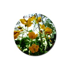 Yellow Flowers Magnet 3  (Round)