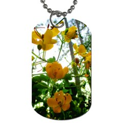 Yellow Flowers Dog Tag (one Sided)