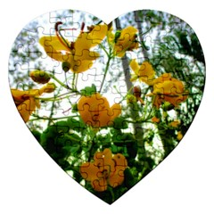 Yellow Flowers Jigsaw Puzzle (Heart)