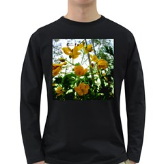Yellow Flowers Men s Long Sleeve T-shirt (Dark Colored)