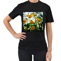 Yellow Flowers Women s T Shirt (black)