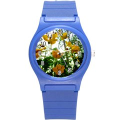 Yellow Flowers Plastic Sport Watch (Small)