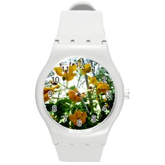 Yellow Flowers Plastic Sport Watch (Medium)