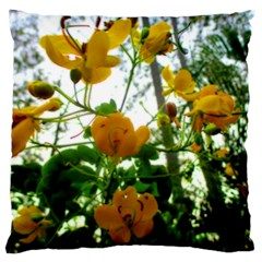 Yellow Flowers Large Cushion Case (two Sided)